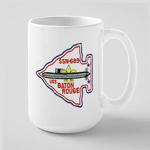 USS Baton Rouge SSN 689 Large Mug
