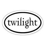Twilight Euro by twibaby Sticker (Oval 10 pk)