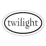 Twilight Euro by twibaby Sticker (Oval)