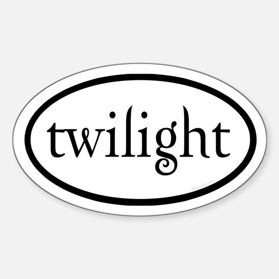 Twilight Euro by twibaby Sticker (Oval)