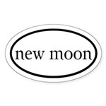 New Moon Euro Sticker (Oval)