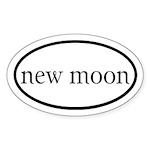 New Moon Euro Sticker (Oval)