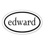 Edward by twibaby Sticker (Oval 10 pk)