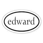 Edward by twibaby Sticker (Oval 50 pk)