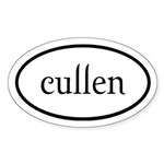 Cullen Euro by twibaby Sticker (Oval 50 pk)