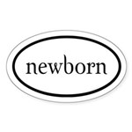 Twilight Newborn by twibaby Euro Sticker (Oval)