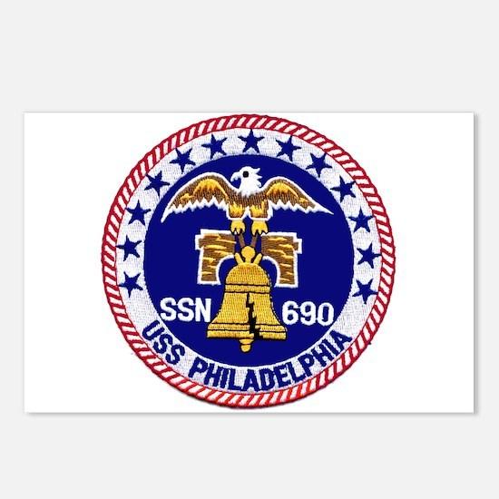 USS Philadelphia SSN 690 Postcards (Package of 8)