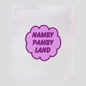 Namby Pamby Land Throw Blanket