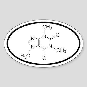 Caffeine Molecule Oval decal Sticker (Oval)