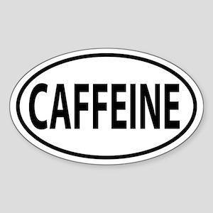 Caffeine addict Oval decal Sticker (Oval)