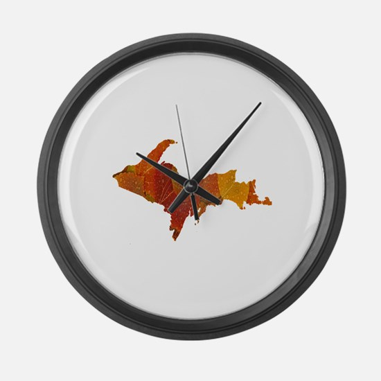 Autumn Leaves U.P. Large Wall Clock