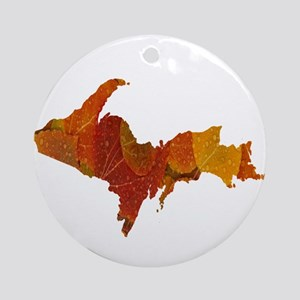 Autumn Leaves U.P. Ornament (Round)