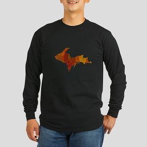 Autumn Leaves U.P. Long Sleeve Dark T-Shirt