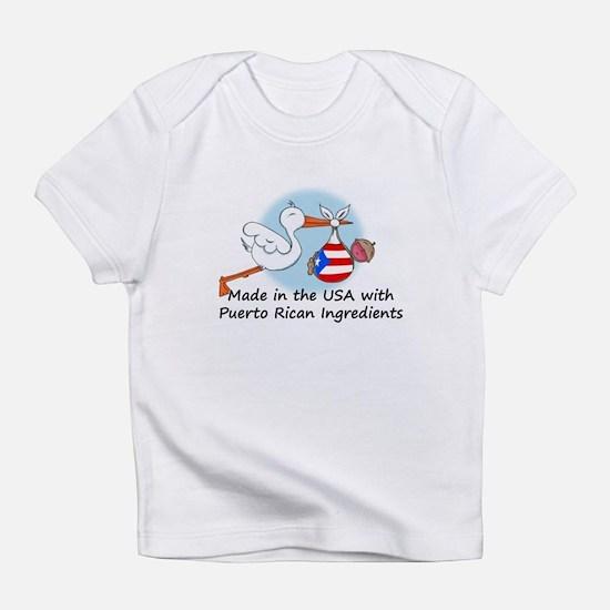 Stork Baby Puerto Rico USA Infant T-Shirt
