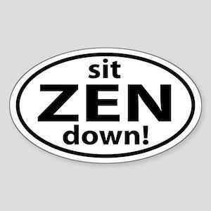 Sit Down Zen Sticker (Oval)