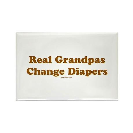 Grandpas Change Diapers Rectangle Magnet