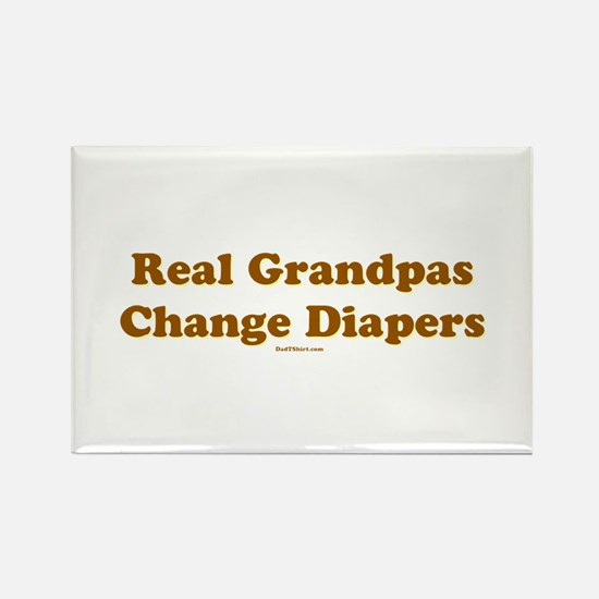 Grandpas Change Diapers Rectangle Magnet
