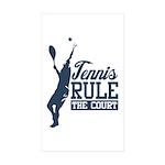 Tennis : Rule the Court Sticker (Rectangle 10 pk)
