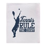 Tennis : Rule the Court Throw Blanket