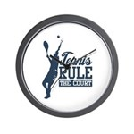 Tennis : Rule the Court Wall Clock