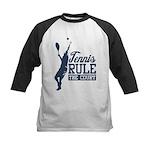 Tennis : Rule the Court Kids Baseball Jersey