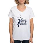 Tennis : Rule the Court Women's V-Neck T-Shirt