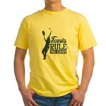 Tennis : Rule the Court Yellow T-Shirt