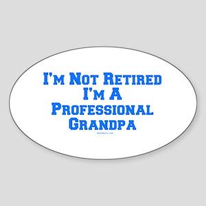 Professional Grandpa Sticker (Oval)