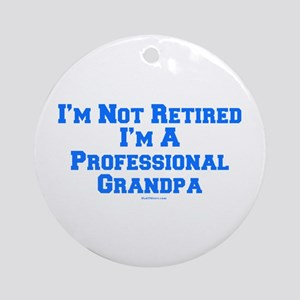 Professional Grandpa Ornament (Round)