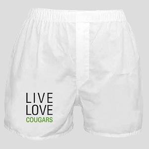 Live Love Cougars Boxer Shorts