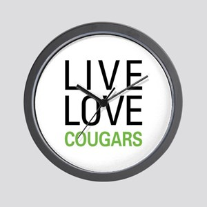 Live Love Cougars Wall Clock