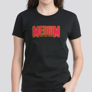 Medium TV See Beyond Women's Dark T-Shirt