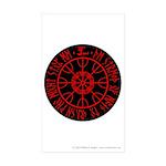 Aegishjalmur Sticker (Rectangle 50 pk)