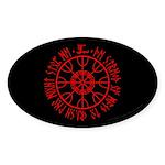 Aegishjalmur Sticker (Oval 50 pk)