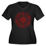 Aegishjalmur Women's Plus Size V-Neck Dark T-Shirt