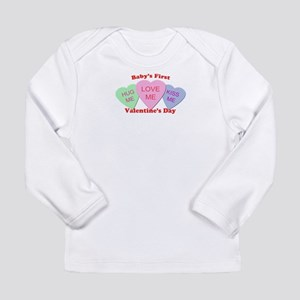 First Valentine's Day Long Sleeve Infant T-Shirt