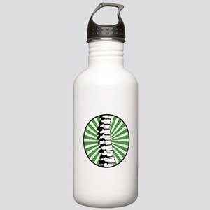 Green Burst Spine Stainless Water Bottle 1.0L