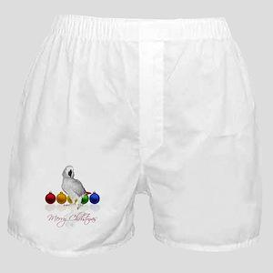african grey christmas Boxer Shorts