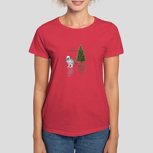 african grey christmas Women's Dark T-Shirt