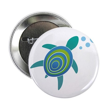 """Ocean Doctor Sea Turtle 2.25"""" Button (100 pac"""