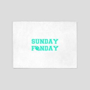 Sunday Funday 5'x7'Area Rug
