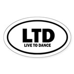 Live to Dance Euro Sticker (Oval)