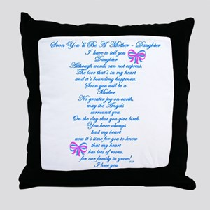 Daughter Expecting Baby Throw Pillow