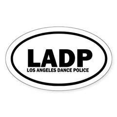 LADP Los Angeles Dance Police Euro Sticker (Oval)