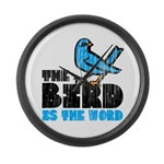 The Bird is the Word Large Wall Clock