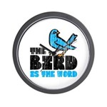 The Bird is the Word Wall Clock