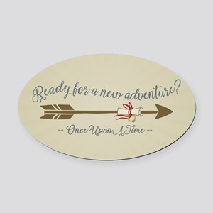 OUAT Ready For A New Adventure Oval Car Magnet