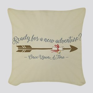 OUAT Ready For A New Adventure Woven Throw Pillow