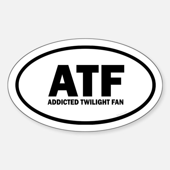 ATF Addicted Twilight Fan Euro Sticker (Oval)