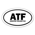 ATF Addicted Twilight Fan Euro Sticker (Oval 50 pk